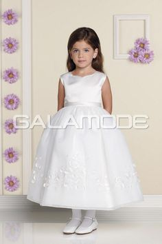 galamode.fr - Robe Cortège Fille Charmant Taille Naturel Sans Manches Organza