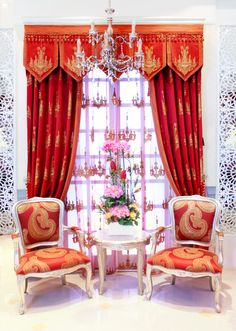 Cortinas y sillas tapizadas estilo #vintage