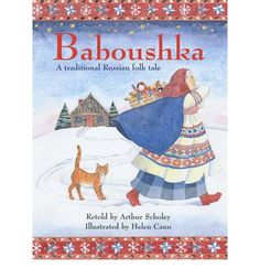 Everyone in the village was talking about the new star. Everyone except Baboushka. Then three strangers arrived, following the star. They stayed at Baboushka's house and told her of their quest. When they left they asked her to go with them. A traditional Russian folktale with a Christmas theme.