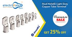 Don't miss out on these deals! Grab Now! #Dowells   #StudHoleLightDutyCopperTubeTerminal  @ Electrikals.com
