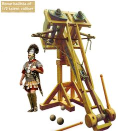 Ballista - a siege weapon for throwing heavy darts or stone projectiles long distances with great power