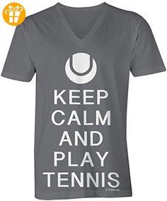 KEEP CALM and Play Tennis ☆ V-Neck T-Shirt Männer-Herren ☆. KEEP CALM and  Play Tennis ☆ V-Neck T-Shirt Männer-Herren ☆ hochwertig bedruckt mit  lustigem ...
