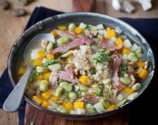 Recette - Pommes de terre à la suédoise farcies au camembert en pas à pas Pesto, Lard, French Food, Beignets, Coco, Cobb Salad, Biscuits, Vegetables, Cooking