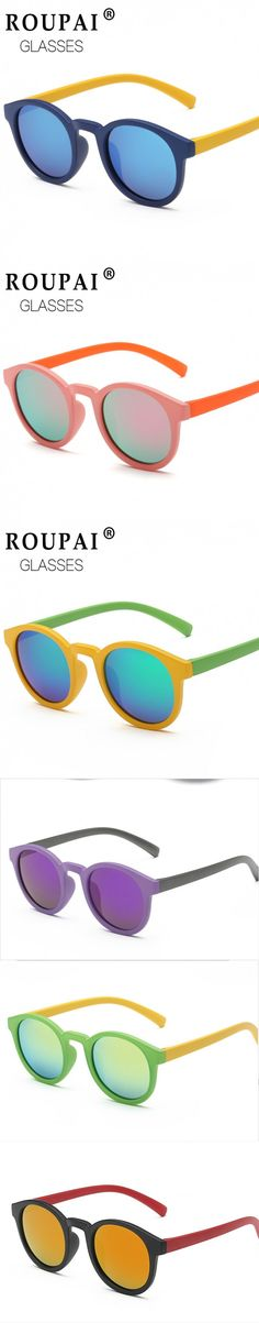 Polarized Round Kids Sunglasses Children Sun Glasses Anti-uv Baby Vintage Eyeglasses Outdoor Cool 7 Color oculos infantil de sol