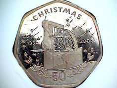 2004 Isle of Man 50p Christmas Coin BUNC LAXEY WHEEL Scarce | eBay