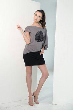 Asymetric black/grey dress