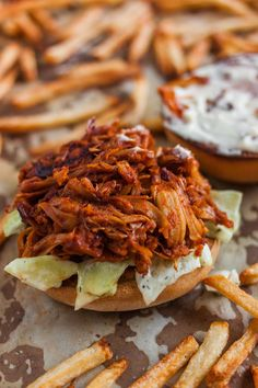 "This tasty and easy to make bbq jackfruit pulled pork recipe will quickly become your favorite sandwich and taco filling with its ""meaty"" texture and taste."