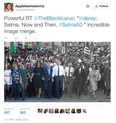 """jMarch 7  Ferguson protesters and President Obama visit Selma on the 50th anniversary of """"Bloody Sunday"""".  Pres. Obama says """"the march is not yet over"""", """"Selma is now"""".  Video of President Obama speaking at the Edmund Pettus Bridge (full transcript)  Comparing Selma to Ferguson: """"Mike Brown is our Jimmie Lee Jackson"""" John Lewis says he still has visible scars from the Selma marches Photographer helped expose brutality of Selma's """"Bloody Sunday"""" What happened in Selma is happening in…"""