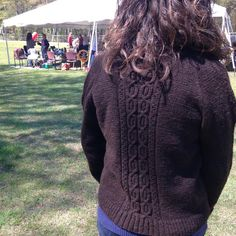 Nancy selected, processed, spun, and knit un-dyed and regionally-sourced wool into her sweater.