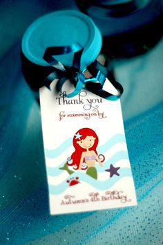LITTLE MERMAID FAVOR Tags Birthday party Printables for Goodie Bags Party Favors. $10.00, via Etsy.