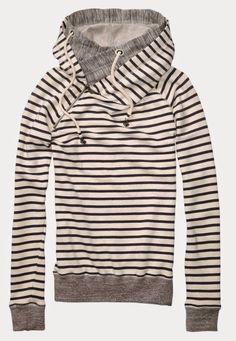 Comfy Home Alone Stripes Hoodie