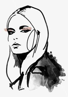 Sara Woodrow. Fashion illustration on Artluxe Designs. #artluxedesigns