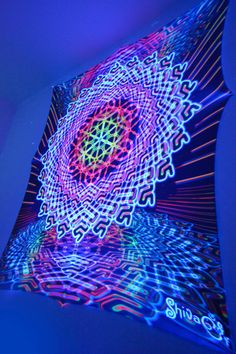 Psychedelic Space, Psychedelic Tapestry, Room Tapestry, Tapestries, Blacklight Tapestry, Om Art, Colorful Tapestry, Trippy Drawings, Black Lights