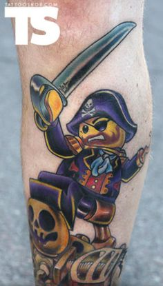 14 Fantastically Fun LEGO Tattoos
