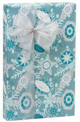 AQUA BLUE SHIMMER Christmas Gift Wrap
