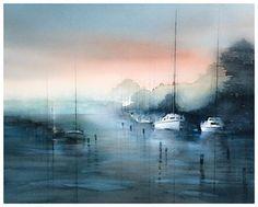Andreas W Gortan 2015 Paul Jackson, Boat Painting, Ship Art, Watercolor Art, Artwork, Artist, Lighthouses, Waterfalls, Watercolors