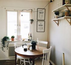 White Painted Dining Chairs