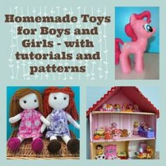 Lots of DIY homemade toys for kids for boys and girls with tutorials!
