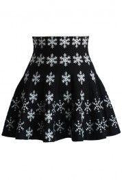 Snowflake Skater Knit Skirt