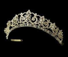 Gold Plated Crystal and Rhinestone Tiara for Quinceanera, Mis Quince Anos! Feel like royalty!