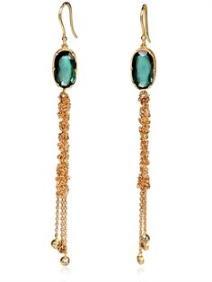 Jelly Fish Gold and Tourmaline Earrings