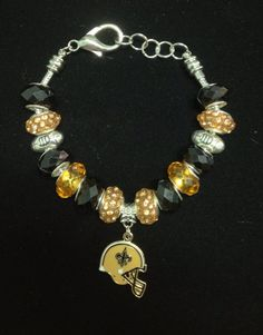 NFL New Orleans Saints Football Logo Bracelet on Etsy, $35.00
