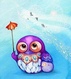 Pinzellades al món: Els mussols d'Annya Kai / Los buhos de Annya Kai / The owls of Annya Kai
