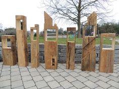 Hochwertig Windlichter   Laterne Aus Alten Balken  Windlicht Gartendeko   Ein  Designerstück Von Holz Und