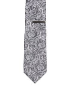 Burma Bibas Paisley Tie with Tie Bar