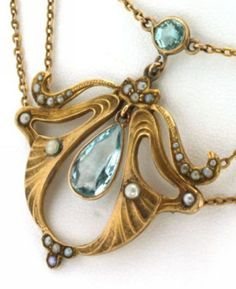 Art Nouveau Jewelry Necklace 2217