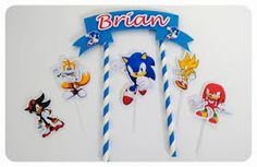 topo de bolo do sonic Sonic Birthday Parties, Sonic Party, 5th Birthday, Bolo Sonic, Hedgehog Birthday, Character Cakes, Ideas Para Fiestas, Cakes For Boys, Archie