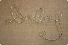 Wire words how to, I think I already have some of that wire at home somewhere!