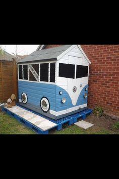 VW bus garden shed-