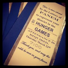 Hunger Games inspired invites, made for my younger sister's birthday party.