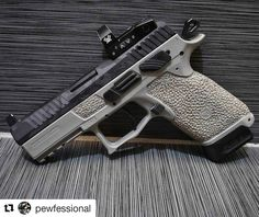 with ・・・ Well kicked ass on this one. Venom machined on the slide and black camo cerakote along with some plastic surgery to stand out from the crowd. Tactical Pistol, Tactical Gear, 9mm Pistol, Weapons Guns, Guns And Ammo, Firearms, Shotguns, Ar Build, Tac Gear