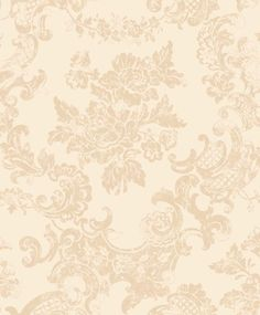 M0757 - Vintage Lace - Country Cream - Damask - Wallpaper