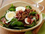 Spinach Salad with Warm Bacon Dressing Recipe : Alton Brown : Recipes : Food Network