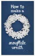 DIY Paper Snowflake Wreath - by Erin Bassett
