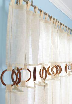 Dekor és Mentha: Kreatív ötlettár: Egyedi függöny egyszerűen