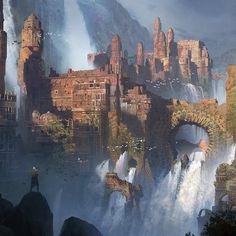 Waterfall ruined Monastery