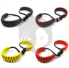 Handmade Adjustable Paracord Handcuffs - Yellow, Dark Gray, Orange, Brown.  4 new colors for sale.  https://www.etsy.com/listing/289042743/handmade-adjustable-paracord-handcuffs #Papabearshouse #paracord #paracordcreations #handcuffs #handmade #madetoorder #pink #green #burgundy #purple #moretocome