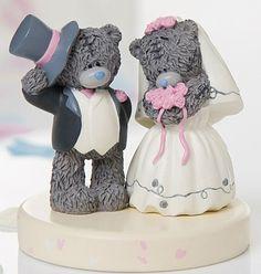 Tatty Teddy Bride And Groom Cake Topper