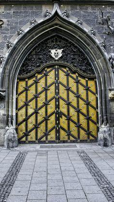 Elaborate door, Munich, Germany | Lynn M. Willis, on Flickr.