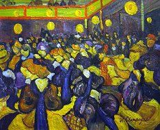 Vincent Van Gogh - The Dance Hall At Arles - Oil Paintings on Canvas