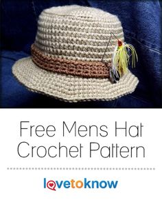 Keep your fisherman warm on those cool pre-dawn fishing trips with a crochet, bucket-style fisherman hat. This hat uses two strands of yarn held together and simple stitches, producing a standard fit for an adult man. Its construction is fast and easy for a beginner as well as an experienced crocheter. | Free Mens Hat Crochet Pattern from #LoveToKnow