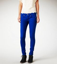 gemstone brights, Heritage Blue Skinny Jeans from American Eagle