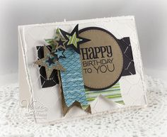 Card by Julee Tilman using Birthday to You from Verve.  #vervestamps