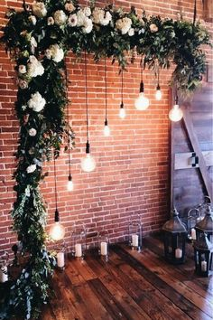 21 Stunning Examples of Wedding Lighting Decor That You Can DIY - Wedding Lighting Ideas and Inspiration - DIY Wedding Lighting - Wedding Lights - DIY Event Lighting Romantic Wedding Decor, Trendy Wedding, Dream Wedding, Wedding Rustic, Wedding Trends, Wedding Designs, Nontraditional Wedding, Wedding Deco Ideas, Wedding Back Drop Ideas