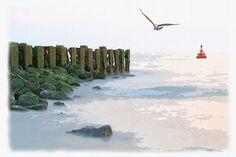 'Küstenschutz'+von+Dirk+h.+Wendt+bei+artflakes.com+als+Poster+oder+Kunstdruck+$18.03