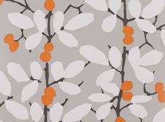 Orange Grey White Wallpaper Romo Fabrics Upholstery Wall